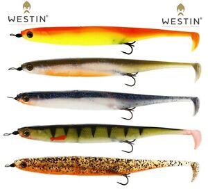 Westin-Fischen-Koder-2pcs-Alse-Kickteez-15cm-Bereit-Manipuliert-Weich-Predator