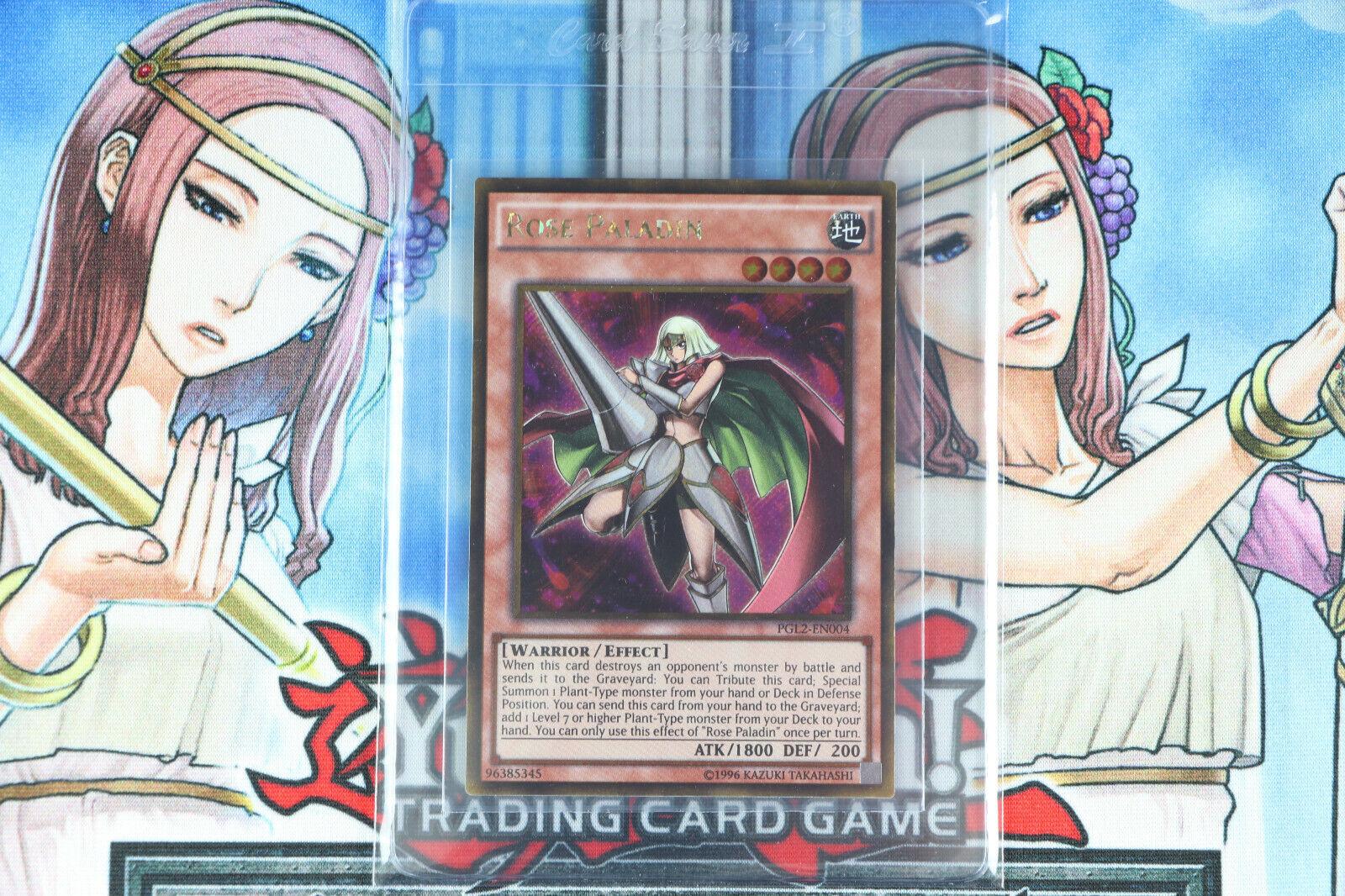 PGL2-EN004 Gold Secret Rare YuGiOh Rose Paladin 1st Edition Near Mint