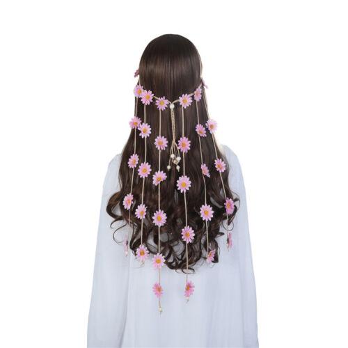 Boho Women/'s Hand Weave Headband Flowers Bead Hair Band Girls Hair Accessories