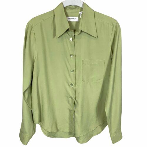 Equipment Sage Green Silk Shirt S - image 1