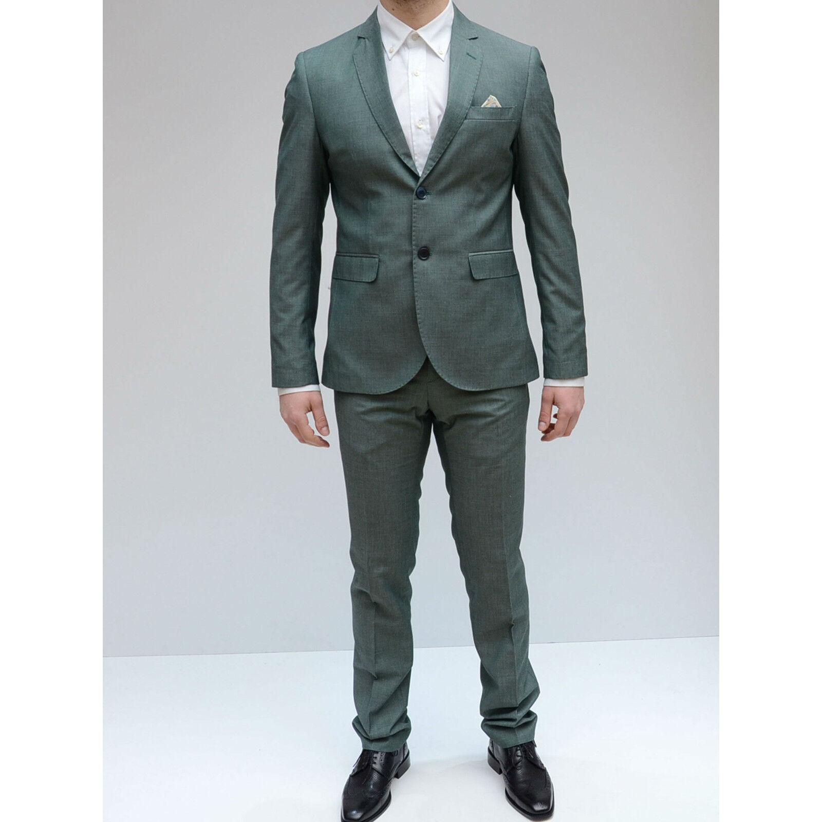 Abito men Monopetto Vincent green Completo elegante giacca pantalone