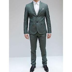 promo code d1c30 b6ca6 Dettagli su Abito Uomo Monopetto Vincent Verde Completo elegante giacca  pantalone
