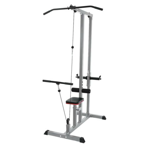 Home Gym Body Lat Pull Down Machine Low Bar Cable Fitness Training Weigh White