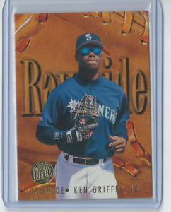 1996-Fleer-Ultra-Rawhide-4-GOLD-MEDALLION-Ken-Griffey-Jr-Seattle-Mariners