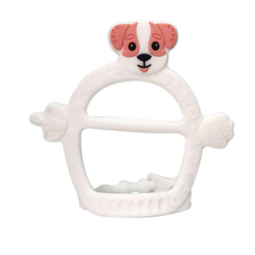 Baby Infant Silicone Teething Safe Chew Teether Toy Soother Cartoon Dog Pacifier