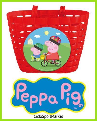 "Papierkorb /"" Peppa Pig /"" für Fahrrad Mädchen Lenkeraufnahme Lenker Bimba"