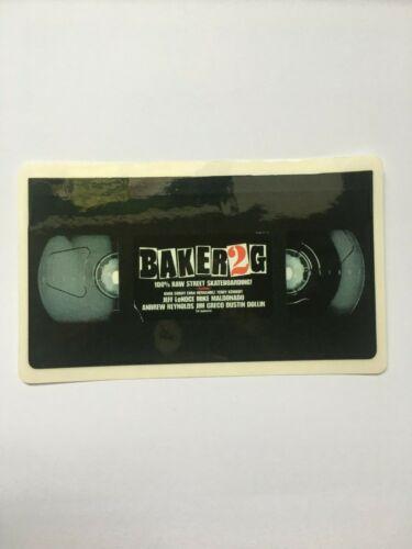 "BAKER SKATEBOARDS SKATE REYNOLDS DOLLIN GRECO BAKER 2G VHS STICKER 5/"" INCH"