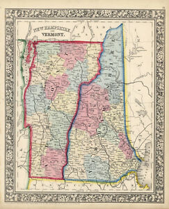 1864-S-A-Mitchell-034-New-Hampshire-amp-Vermont-034