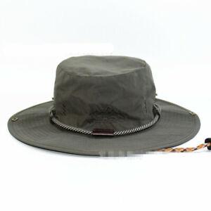 53c869ff3d7 Wide Brim Cowboy Hat Collapsible Hats Fishing Golf Hat Sun Block ...