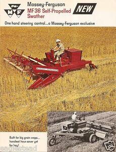 farm equipment brochure massey ferguson mf 36 swather 1968 1 rh ebay com