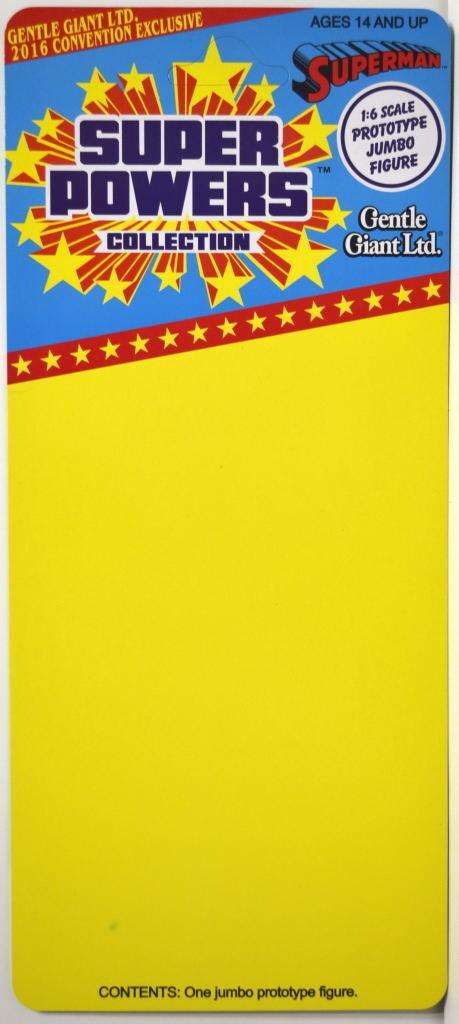 Super Powers / Little Giant UNUSED SUPERMAN 1:6 PROTOTYPE JUMBO Act Figure Card