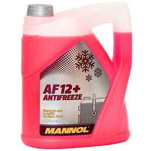 Kuehlerfrostschutz-Rot-G12-5-L-Mannol-Antifreeze-AF12-40-C-Kuehlmittel-VW-Audi