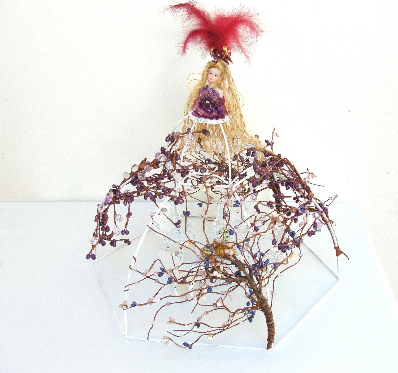 Tea Party en las hadas-Arte Muñeca con muebles casa de muñecas