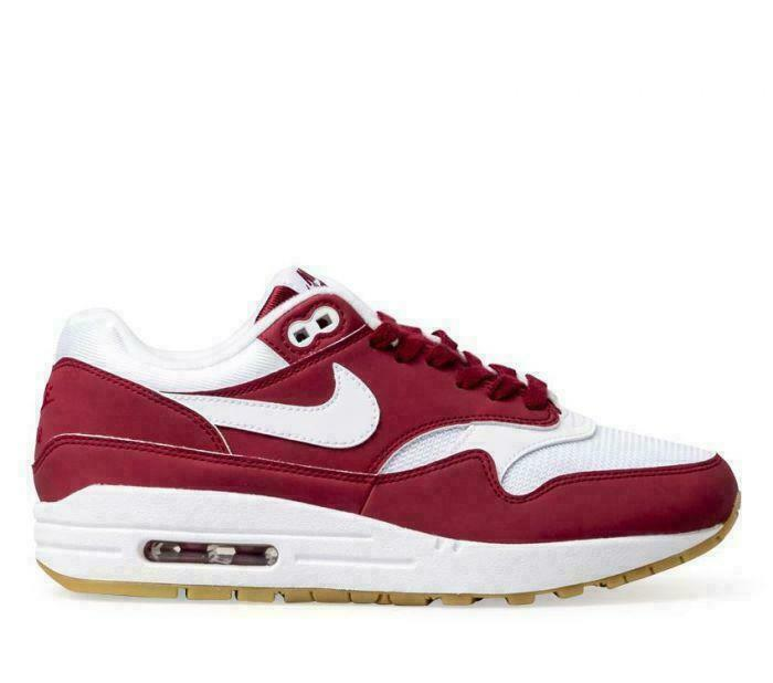 NEW NEW NEW Women's Nike Air Max 1 Red Crush White 319986-608  size 6.5 42d74b