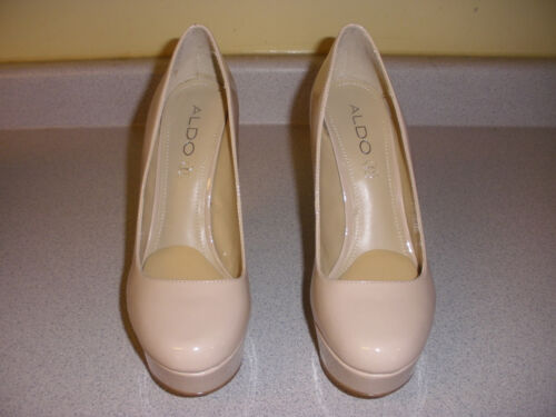 WOMEN'S ALDO PRUE-32 HEELS STILLETOS SIZE 8 NUDE