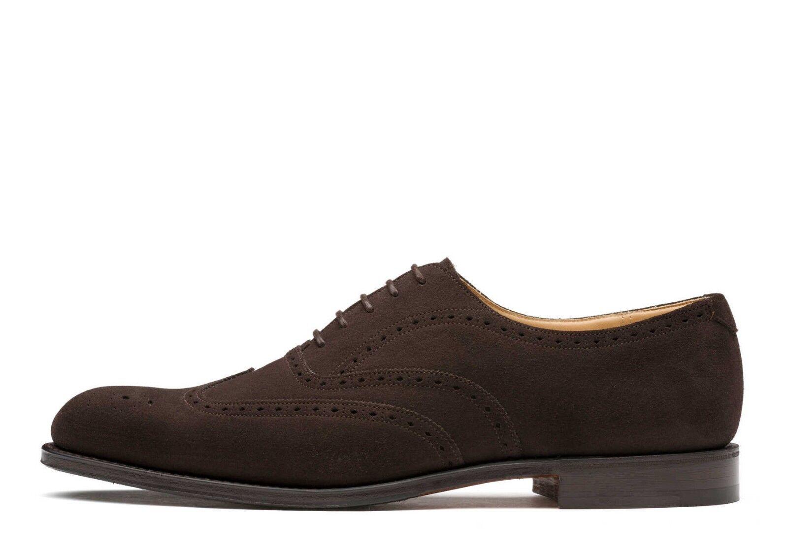 Hecho a mano para hombres genuino del ante Formales Oxford Brogue punta del ala Zapatos Con Cordones Clásico