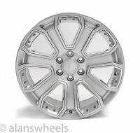 "4 Cadillac Escalade Ext Esv Hyper Silver Chrome Inserts 22"" Wheels Rims 5660"