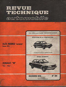 Rta Revue Technique Automobile N° 384 Renault 18 R18 Tl Gtl Marchandises De Haute Qualité