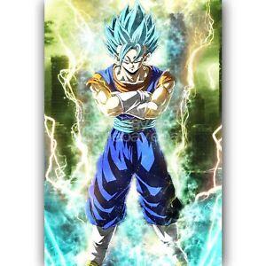 Custom Vegito Super Saiyan Blue Dragon Ball Super New Silk Poster Wall Decor