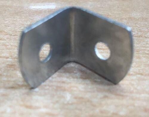 6 x L Shaped 90 degree metal angle braces brackets 19mm for shelf fence etc