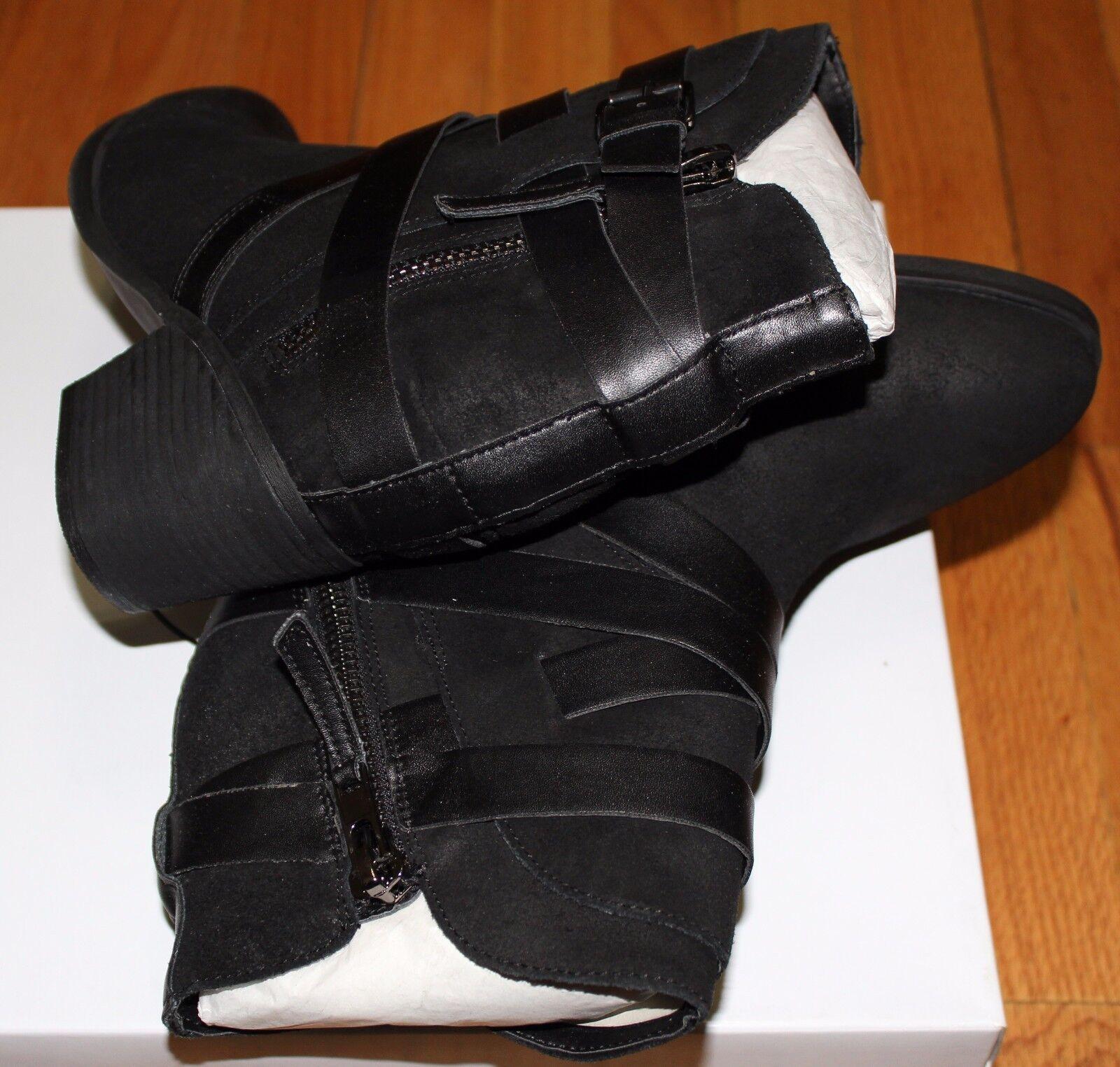148 10M STEVE MADDEN PAIVA BLACK LEATHER ANKLE Stiefel SZ 10M 148 US 1c1707