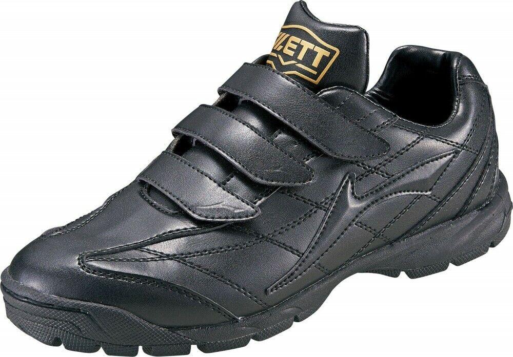 Zett béisbol Softbol árbitro o entrenamiento calzado DX BSR8276 Negro Con Seguimiento