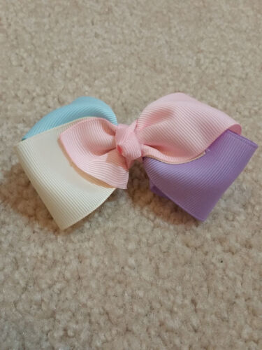 "You Pick! Custom Handmade Hair Bows /& Ponytail Holders 3.5-4/"""