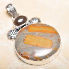 "Handmade Natural Ocean Jasper Gemstone 925 Sterling Silver Pendant 2.25"" #P14794"