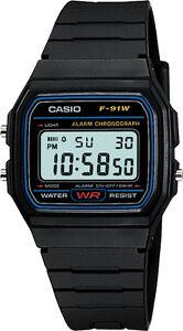Casio-F-91W-Genuine-Original-Alarm-Chronograph-Digital-Retro-Watch-New-F-91-F91