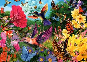 500-Pezzi-Puzzle-gli-Uccellini-amp-Farfalle-Sigillato-Nuovo-di-Zecca-amp