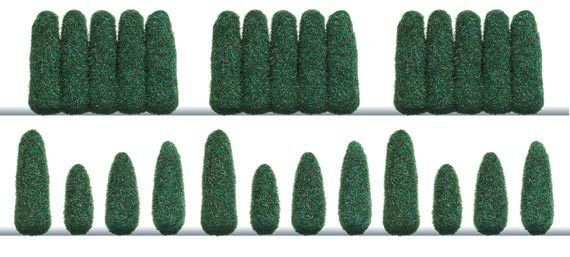 Busch Lleylandi Connifer Trees 1270 HO Scale (suit OO also)