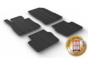 Design-Coupe-caoutchouc-Tapis-caoutchouc-Tapis-de-sol-avec-bordure-pour-Mazda-2-ab-Bj-11-2014-gt