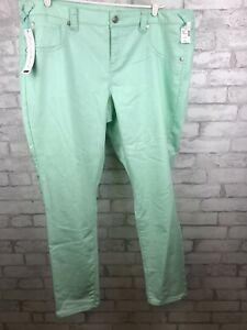 Maurice's Womens Plus Size JEGGING Seafoam Green Skinny Jeans Size 24R New!!