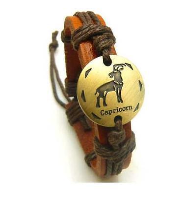 Tibetan leather Constellations of Zodiac bracelet