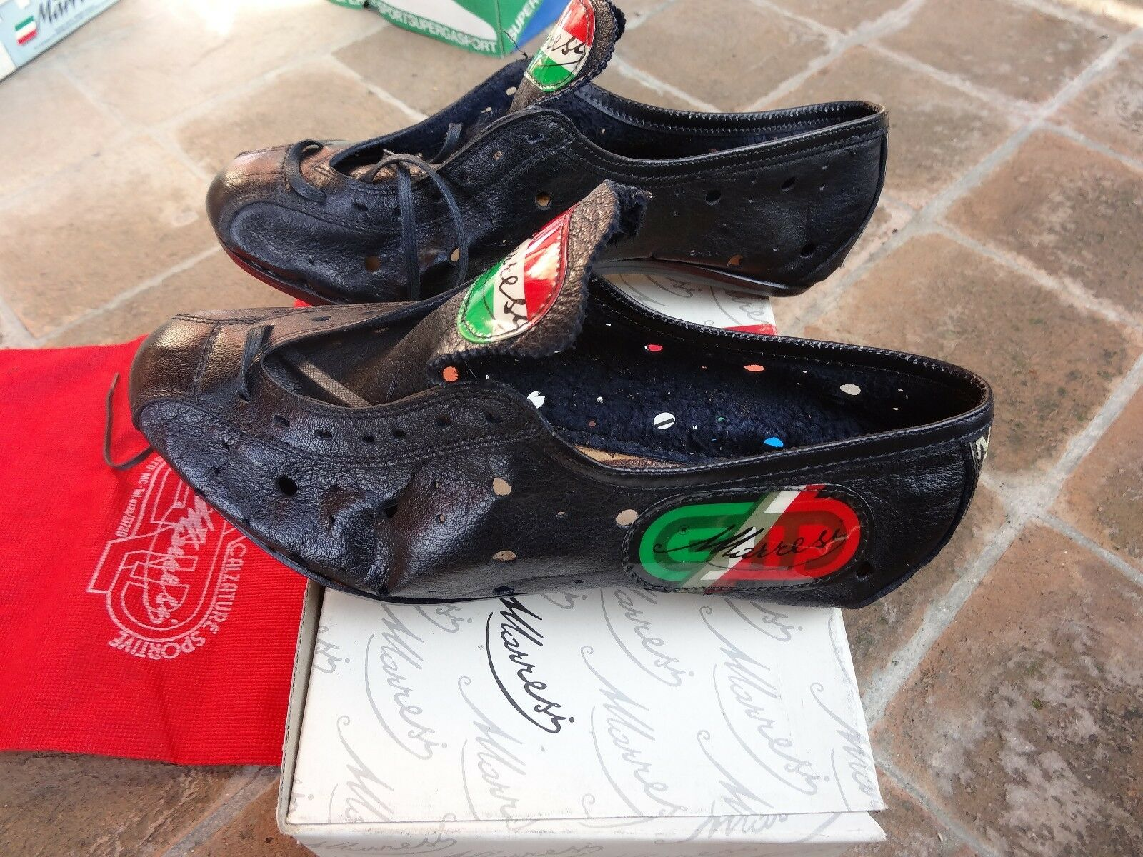 NIB  Marresi vitage cycling shoes leather l Eroica
