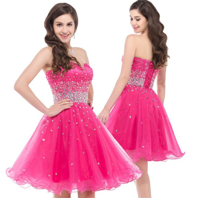 Masquerade Party Prom Gown Cocktail Evening Short Dress Wedding Bridesmaid Dress