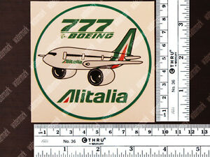 ROUND-ALITALIA-PUDGY-STYLE-BOEING-B777-DECAL-STICKER-3-5-x-3-5-in-9-x-9-cm