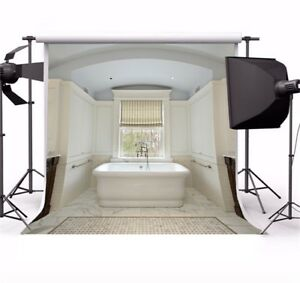 Image Is Loading Modern Bathroom Scene 10x10ft Photo Backdrops Seamless Photography
