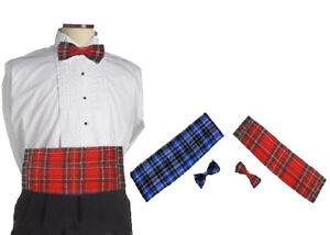 Plus-Size-Scotland-Tartan-Cumberbund-amp-Bow-Tie-Burns-Night-Cummerbund-lot