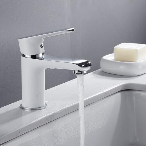 Weiß Badarmatur Wasserhahn Einhebel Mischbatterie Waschtisch Waschbecken Armatur