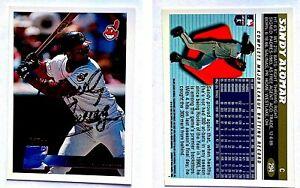 Sandy-Alomar-Jr-Signed-1996-Topps-294-Card-Cleveland-Indians-Auto-Autograph