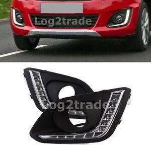 DRL-For-Suzuki-Swift-Dzire-2014-2015-2016-LED-Daytime-Running-Light-Car-Fog-Lamp
