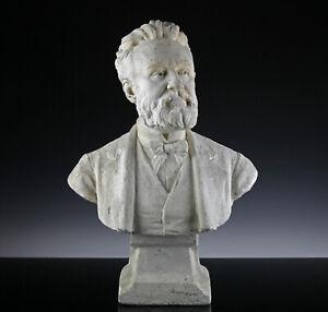 Leon-Fagel-1851-1913-Stuck-Bueste-eines-Mannes-um-1890-Thieme-Becker