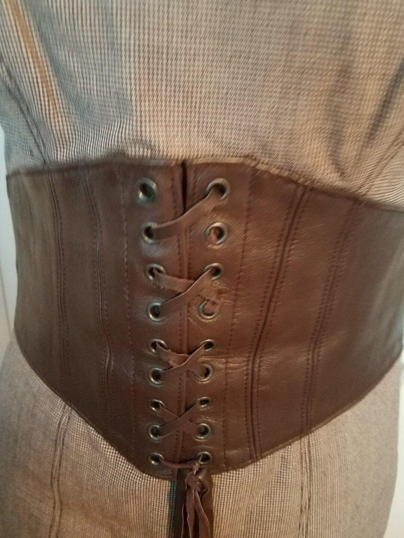 Bebe wool leather dress dress dress 6. 78527a