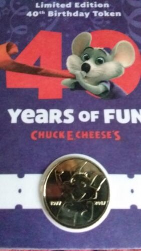 /<LAST ONE/> PACKAGE SEALED COLLECTORS *Chuck E Cheese* 40 Years Of Fun Token NEW!