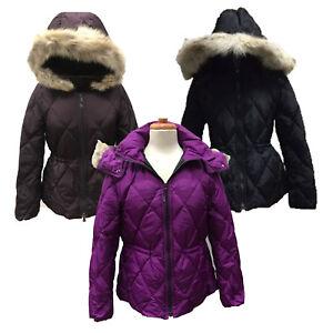 8eb73227805d Coach 84047 Women s Fur Trim Hooded Short Legacy Down Puffer Jacket ...