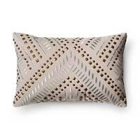 Gray Studded Metallic Throw Pillow - Xhilaration&153;