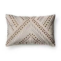 Gray Studded Metallic Throw Pillow - Xhilaration&153; on sale