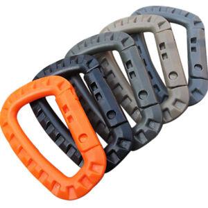 5pcs Mountaineering Buckle Snap Clip Plastic Hook Climbing Carabiner D Shape HC