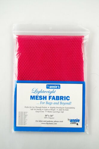 """By Annie Lightweight Mesh Fabric 18/""""x 54/"""" for Bags /& Beyond"""